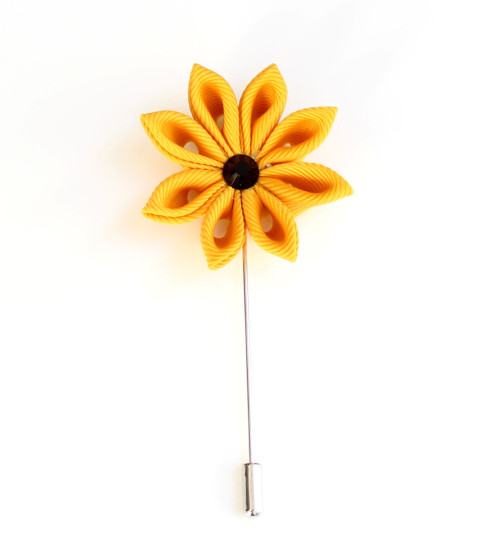 Lapel pins product categories zarini yellow flower lapel pin mightylinksfo