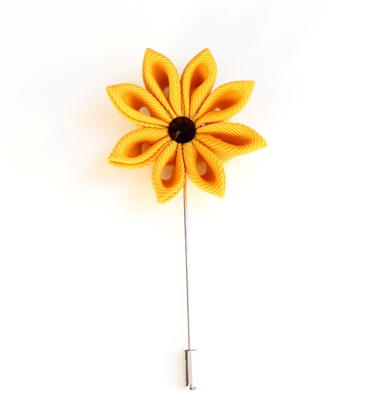 Yellow Flower Lapel Pin Zarini